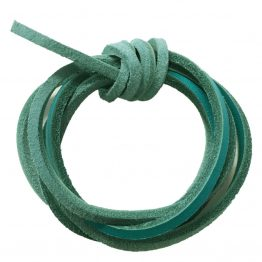 Turquoise Quality Leather shoelaces