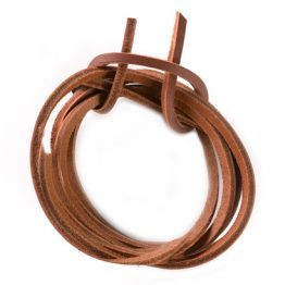 Brown Quality Leather shoelaces