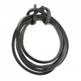 Black Quality Leather shoelaces