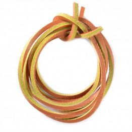 Tan Quality Leather shoelaces