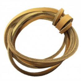 Natural Quality Leather shoelaces