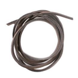 Dark Brown Quality Leather shoelaces