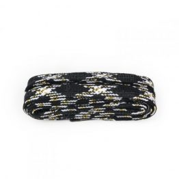Black, White & Gold Glitter Shoelaces