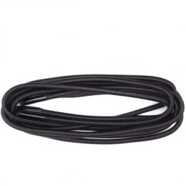 Black Elastic Round Shoelaces