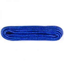 blue metallic shoelaces