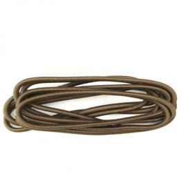 Brown Elastic Round Shoelaces
