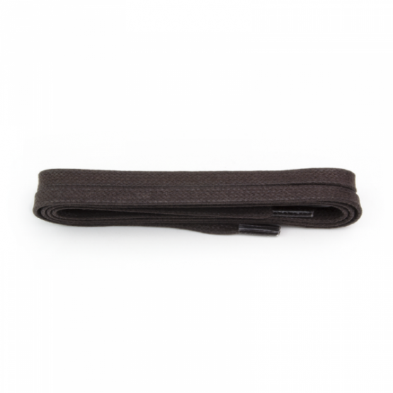 Brown Flat Waxed Shoelace