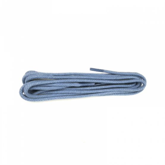 Blue waxed shoelaces