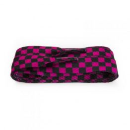 Black & Pink Check Laces