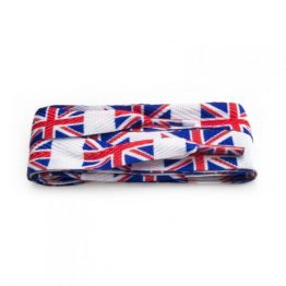 union jack printed flat Laces
