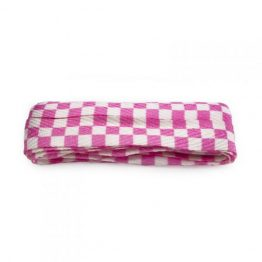 Pink & White Checker Shoelace