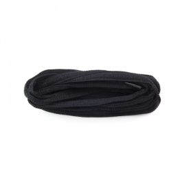 black oval sport shoelaces for sneakers and boots