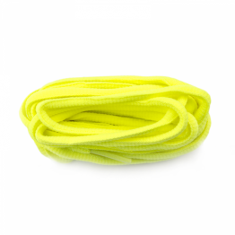 FLUORESCENT yellow OVAL ROUND shoelaces for sneakers walking boots sports trainers