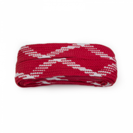 red and white shoelaces boots skate laces