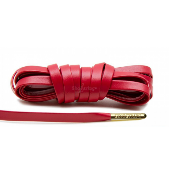 Red Leather Shoelaces