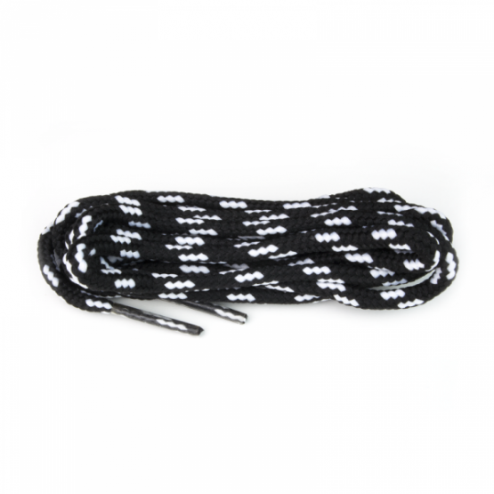 black and white stripe shoelaces for sneakers and hiking boots