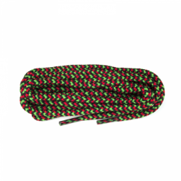 Red, Emerald and Black Hiking Boot Laces