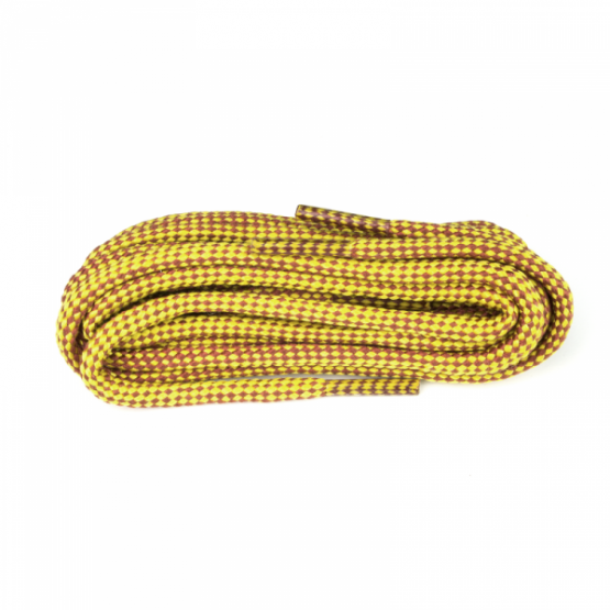 Tan & Yellow Check Hiking Boot Laces