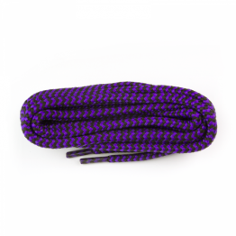 Purple and Black Hiking Boot Laces