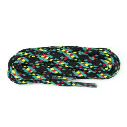 Navy, Red, Jade and Yellow Hiking Boot Laces
