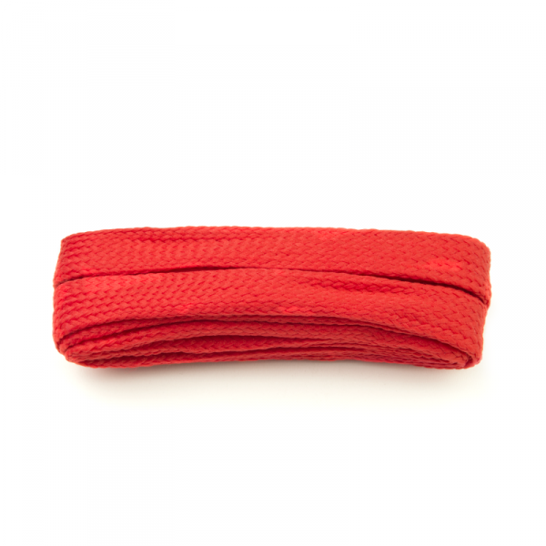 Red Extra Wide Flat Laces: Extra Wide