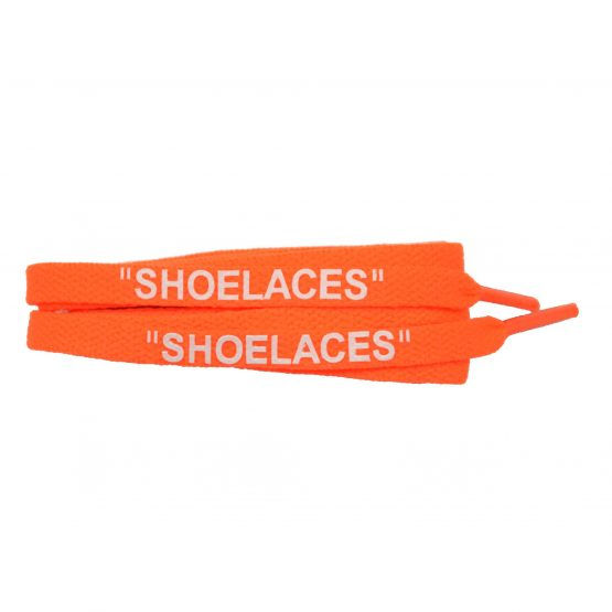 Neon Orange OFF-WHITE Style Shoe laces