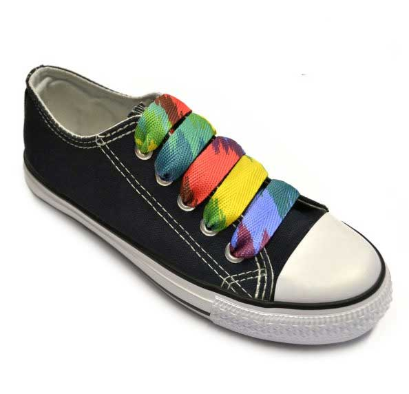 Sneaker Italian abstract rainbow shoelaces